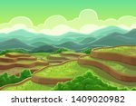 Chinese Rice Fields In Mountai...