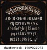 western font letters. vector...   Shutterstock .eps vector #1409021048