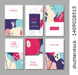 set of creative universal... | Shutterstock .eps vector #1409028515