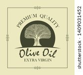 label for extra virgin olive... | Shutterstock .eps vector #1409031452