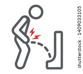 urine pain line icon  body and... | Shutterstock .eps vector #1409033105