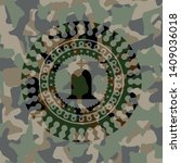 tombstone icon on camo texture | Shutterstock .eps vector #1409036018