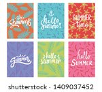 hand lettering summer...   Shutterstock .eps vector #1409037452