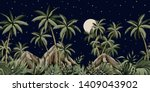 tropical night starry moon... | Shutterstock .eps vector #1409043902