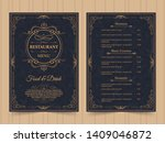 menu layout with ornamental... | Shutterstock .eps vector #1409046872