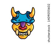 Colorful Yellow Horns Mask Wit...