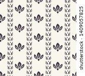 floral ethnic leaf motif scandi ... | Shutterstock .eps vector #1409057825
