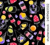 popsicle ice cream. seamless... | Shutterstock .eps vector #1409065532