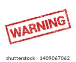 warning grunge stamp rubber... | Shutterstock .eps vector #1409067062
