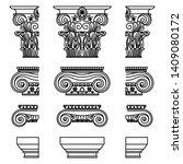 a set of antique greek... | Shutterstock .eps vector #1409080172