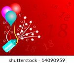 an 18th birthday background... | Shutterstock . vector #14090959