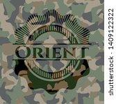 orient camouflage emblem....   Shutterstock .eps vector #1409122322