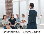businessman at a business... | Shutterstock . vector #1409135345