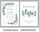 greenery wedding invitation ...   Shutterstock .eps vector #1409144102