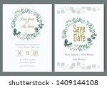 greenery wedding invitation ... | Shutterstock .eps vector #1409144108