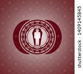 dead man in his coffin icon...   Shutterstock .eps vector #1409145845