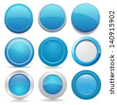 blue round buttons in nine... | Shutterstock .eps vector #140915902