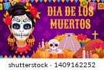 mexican traditional religious... | Shutterstock .eps vector #1409162252