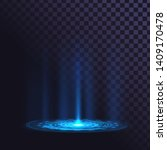 radiant round element on the... | Shutterstock .eps vector #1409170478