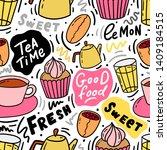 food illustration seamless... | Shutterstock .eps vector #1409184515