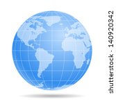 blue earth globe   icon... | Shutterstock .eps vector #140920342