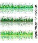 vector set grasse ecology | Shutterstock .eps vector #140921035