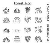 forest  lake  river  park ... | Shutterstock .eps vector #1409224475