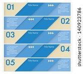 design clean number banners... | Shutterstock .eps vector #140923786