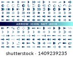 isolated blue arrow vector... | Shutterstock .eps vector #1409239235
