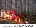 Chrysanthemums With Burning...