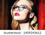 a close up portrait of a... | Shutterstock . vector #1409243612