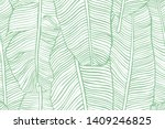 tropical leaves. seamless... | Shutterstock .eps vector #1409246825