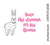character kawaii cute llama and ... | Shutterstock .eps vector #1409251838