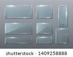 flat glass. glass transparent...   Shutterstock .eps vector #1409258888