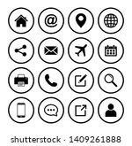 website icon  web icon set... | Shutterstock .eps vector #1409261888
