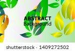 leaf background colorful...   Shutterstock .eps vector #1409272502