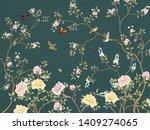 dark green background  large... | Shutterstock . vector #1409274065