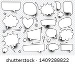 a set of blank comic bubbles... | Shutterstock .eps vector #1409288822