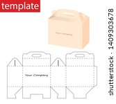 retail box box with die cut...   Shutterstock .eps vector #1409303678