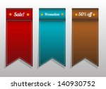 tag banner for sale  promotion   Shutterstock .eps vector #140930752