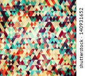 colored triangle seamless... | Shutterstock .eps vector #140931652