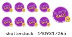 sale tags vector badges... | Shutterstock .eps vector #1409317265