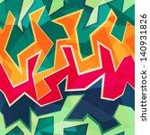 Colored Graffiti Seamless...