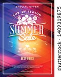 summer sale flyer or poster.... | Shutterstock .eps vector #1409319875