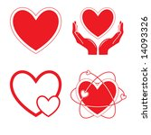 vector heart icons. red and... | Shutterstock .eps vector #14093326
