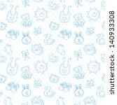 baby toys cute cartoon set on... | Shutterstock .eps vector #140933308