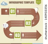 infographic options template... | Shutterstock .eps vector #140933356