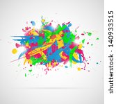 abstract background with paint... | Shutterstock .eps vector #140933515