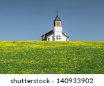 Small Chapel In A Field With...