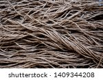 A Lot Of Old Brown Sisal Rope...